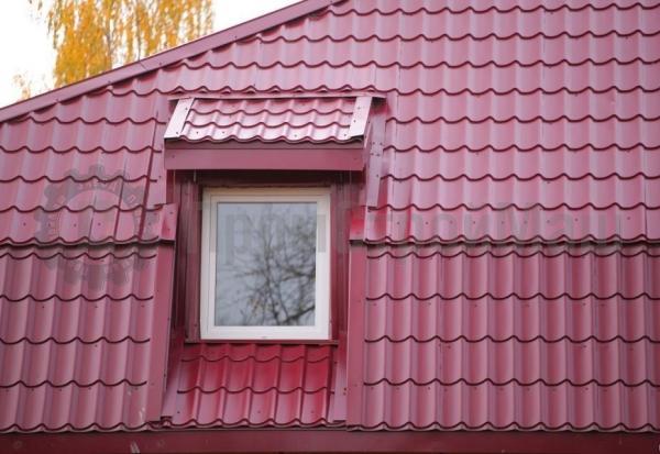Крыша с металлочерепицей Супермонтеррей