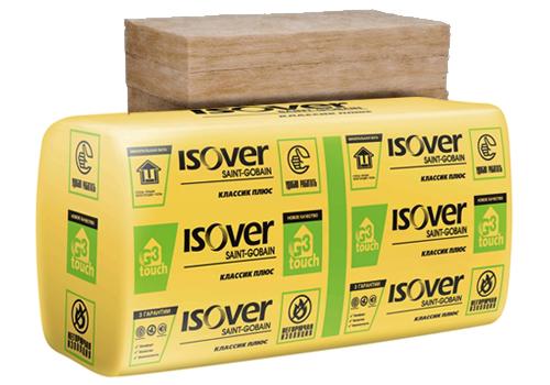 Утеплитель ISOVER ISOVER Плита Классик Плюс 100мм (10шт./1уп.)